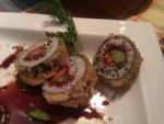 Maki de solomillo y esparrago rebozado